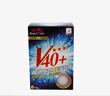 Double Fish New Material Seamed  3 star V40+ table tennis ball 2boxes/lot 12pcs