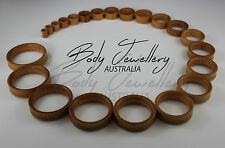 Free Express Shipping Natural Wood Double Flare Flesh Tunnels Low Odour Plugs