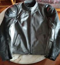 Chaqueta TRIUMPH cuero leather bike jacket CARBON FIBER PROTECTORS moto