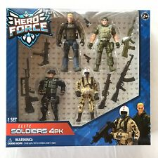 Hero Force ELITE SOLDIERS 4 PACK True Heroes Action Figures