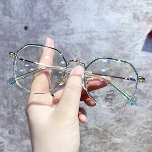 Glasses Women Men Anti Blue Light Blocking Glasses Geometry Optical Eyewear UK