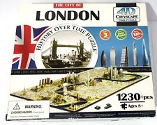 CITY OF LONDON History Over Time 4D Cityscape Puzzle : 1230+ Pieces 685x355x88mm