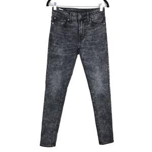 American Eagle Jeans Mens Gray Acid Wash Flex Skinny Jeans Size 28x32
