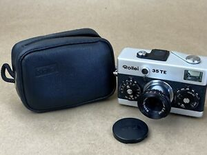 Rollei 35 TE Compact Camera w/ 40mm f/3.5 Zeiss Tessar Lens Made in Singapore
