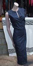 Designer Joseph S Stunning Stretchy Blue Cotton Denim Classic Wraparound Dress