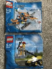 New - Lego City 2x Poly Bags 30310 & 30229 Free UK Shipping