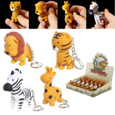 Novelty LED Zoo Designs Keyring Key Chain with Sound BIRTHDAY PRESENT GIFT IDEA