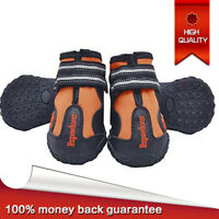 4pcs Dog Boots Feet Cover Paw Protectors Shoes Waterproof Dog Boots  Non Slip