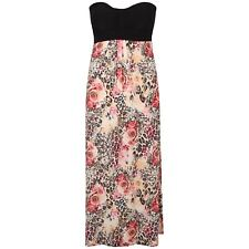 New ladies Curve Strapless Boob Tube Printed maxi dress 8-26