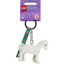 Lego Friends White Horse Key Ring Chain 851578 Charm Figure - Brand New Rare