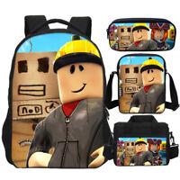 Roblox Print Kid Large Backpack Insulated Lunch Bag Shoulder Bag Pencil Case Lot
