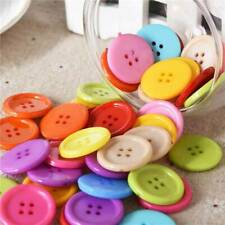 Candy Colorful Buttons, Resin Round, Mixed Color, 4 Holes 20mm, Pack of 100