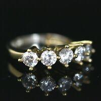 925 Sterling Silver Handmade Gemstone Turkish Zircon Ladies Ring Size 7-12