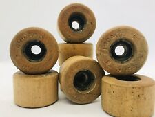 Vintage Chicago Brand Wood Roller Skate Wheels Set Lot of 8
