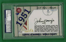 2018 HA CAPITOL OF BASEBALL JOHNNY MIZE CUT AUTO 18/45 PSA/DNA AUTHENTIC