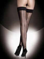Fishnet Glamour Hold Ups Seamed Hosiery & Socks for Women