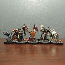 Heroclix Collateral Damage Set of  15 Uniques  Silver Ring Figures Near Mint