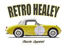 AUSTIN HEALEY SPRITE t-shirt. RETRO HEALEY. CLASSIC CAR. MODIFIED. RALLY CAR.