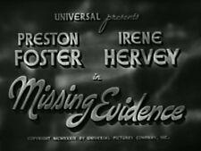 MISSING EVIDENCE (1939) DVD PRESTON FOSTER, IRENE HERVEY