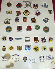 Military Pin Lot Collection Us Army Navy Usn Emblem Crest Lapel Cap Hat Vest Sog