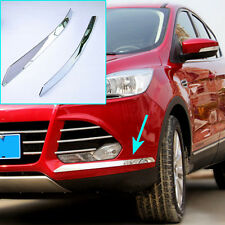 FIT FOR FORD ESCAPE KUGA CHROME FRONT BUMPER ANGLE EDGE STRIP TRIM COVER MOLDING