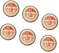 Crown Premium Grade Leather Cricket Ball 5.5oz White Pack Of 6 Express Shipping