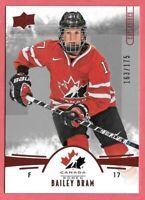 2016-17 Bailey Bram Upper Deck Team Canada Juniors 163/175 Red