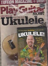 GUITAR TECHNIQUES MAGAZINE PRESENTS PLAY GUITAR NOW YOU CAN PLAY UKULELE + CD.