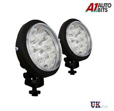 Pair of 12 Led Universal Car Van Front Lights 12V Spot Fog Halogen Round Lamps