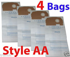 Four Bags Eureka Style AA Upright Vacuum Bags 4100~5180 Series Victory True Hepa