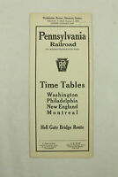 Pennsylvania PRR Railroad Public Timetable 1932 Washington Montreal Train RR PTT
