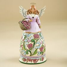 Jim Shore Birthstone & Flower Of The Month Angels-February