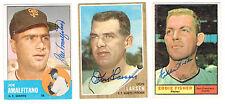 1962 Topps Baseball DON LARSEN autographed SAN FRANCISCO GIANTS card Don Larsen