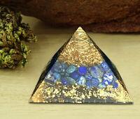 Lapis Lazuli Orgone Pyramid Crystal Energy Generator EMF Protection Reiki