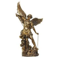 LARGE Cold Cast Bronze 6 ft Archangel ST Michael Statue YARD DECOR Figure