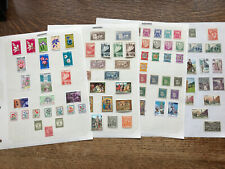 Collection Of ANDORRA STAMPS Hinged On Paper