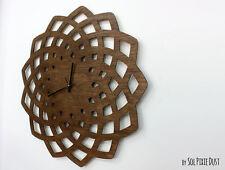 Huge Wooden Geometrical Star Silhouette - Wooden Wall Clock