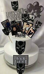 Black Panther Glitter Card Topper Personlised Cake Topper
