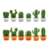 6PCs/Set Mini Cute Cactus Fridge Magnets Refrigerator Magnet NEW U5E7