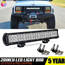 """20"""" INCH LED LIGHT BAR FLOOD SPOT COMBO Kit FOR Off road TRUCK ATV SUV"""
