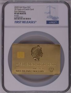 NGC PF69 CREDIT CARD 70th Anniversary 2020 GOLD EDITION 1.5 oz Pure Silver Coin
