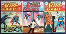 Action Comics #444 to #446. DC 1975. 3 x Bronze Age Issues.