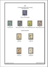 Album de timbres de Diego Suarez 1890-1893 à imprimer
