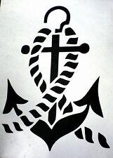 high detail airbrush stencil ships anchor 3 FREE UK POSTAGE