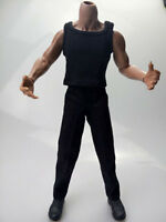 """1:6 Scale Figure Accessory Black Sabretooth Clothes Set For 12"""" Male Body Doll"""