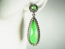 LAGOS Sterling Silver 18K Gold Post Caviar Faceted Chrysoprase Dangle Earrings