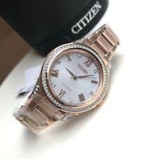 Citizen Eco-Drive Watch * Solar Pink Gold Steel for Women EM0233-51A