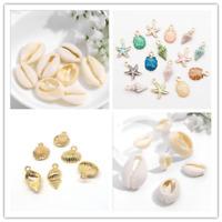 1pack Enamel Shell Ocean Conch Charm Pendant DIY Bracelet Necklace Jewelry Gift