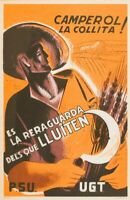 España. War - Civil. Postal Republicana. over. (1937ca) . Card Postcard