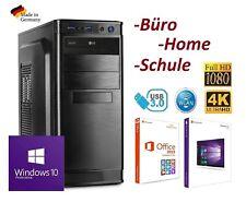 PC Office Büro AMD Quad Core 4x 3,80GHz 8GB RAM 120GB SSD 3TB HDD Windows 10